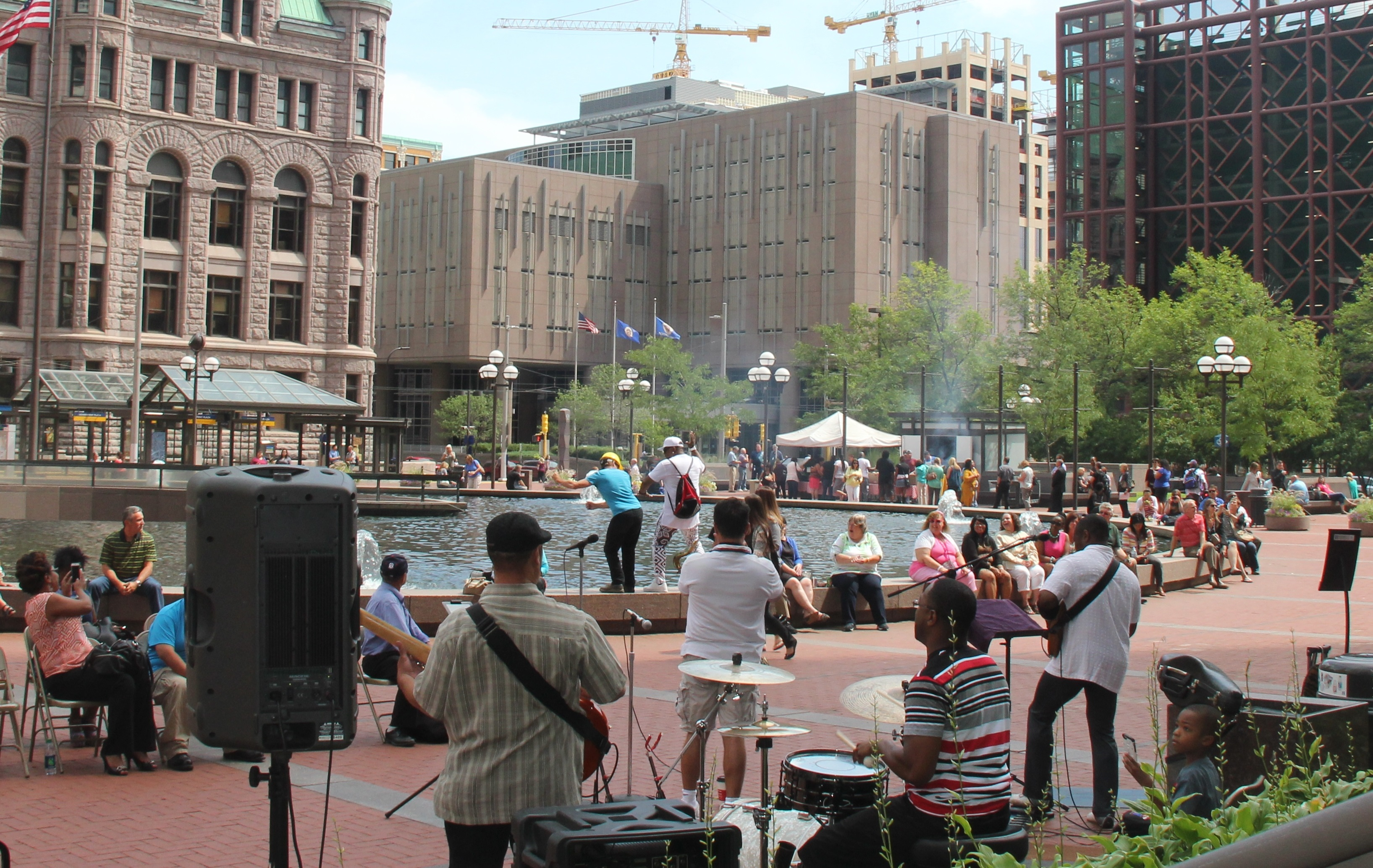 8/5/15 The Dap Squad Live Outdoor Concert Hennepin County Court