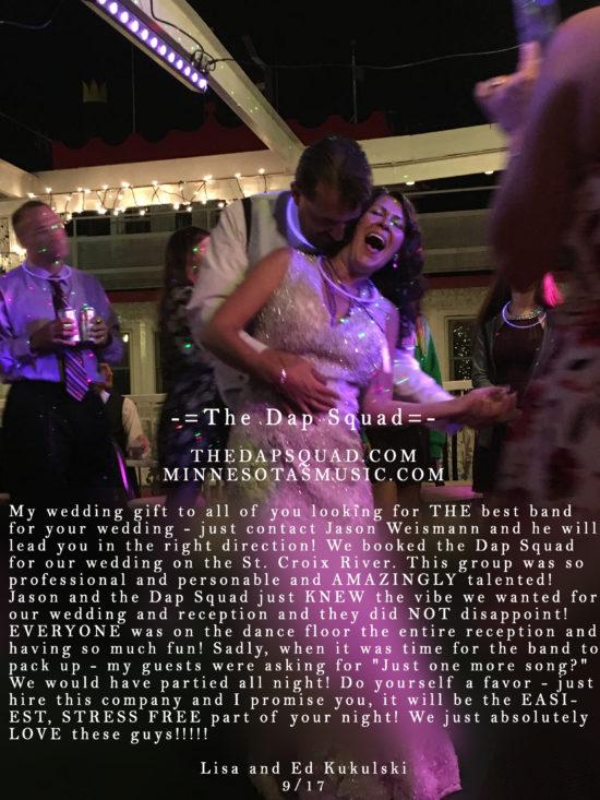 Lisa and Ed Kukulski – 9/17 St. Croix River Boat Wedding