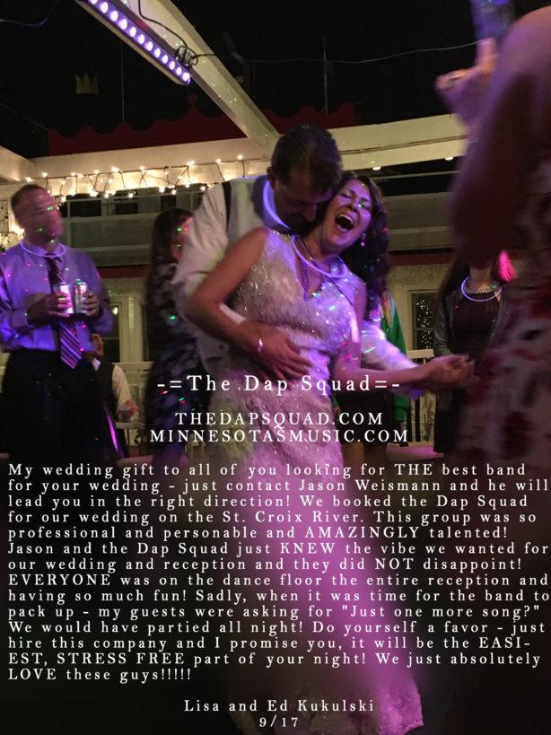 9/17 Lisa and Ed Kukulski – St. Croix Riverboat Wedding